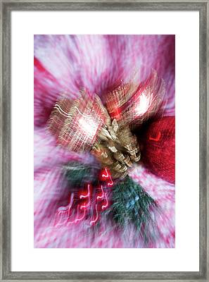 Framed Print featuring the photograph Abstract Christmas 5 by Rebecca Cozart