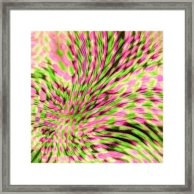 Abstract - Christmas Cactus Framed Print