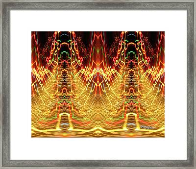 Abstract Christmas Lights #175 Framed Print by Barbara Tristan