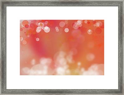 Abstract Circles 5 Framed Print by Les Cunliffe