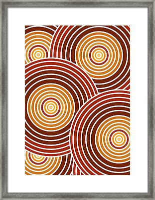 Abstract Circles Framed Print by Frank Tschakert