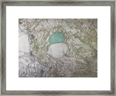 Abstract City Map Framed Print by Edina Besic