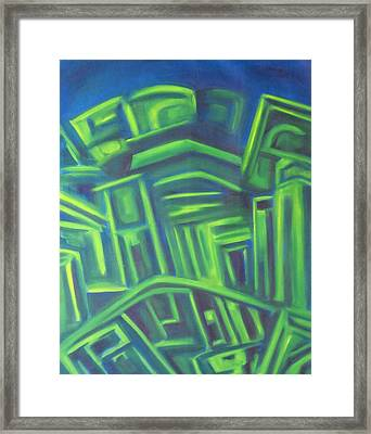 Framed Print featuring the painting Abstract Cityscape Series IIi by Patricia Cleasby