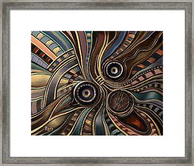 Abstract Clown Framed Print by Radoslav Nedelchev