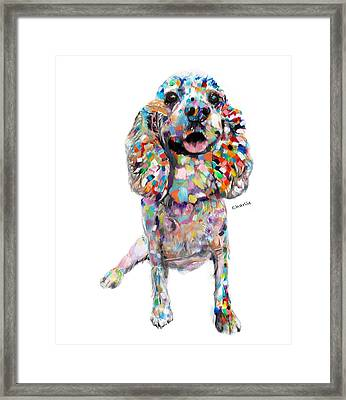 Abstract Cocker Spaniel Framed Print by Enzie Shahmiri
