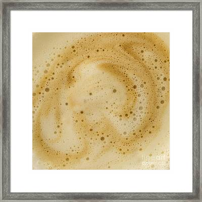 Framed Print featuring the photograph Abstract Coffee by Brian Roscorla