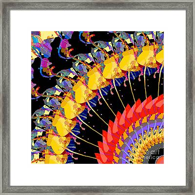 Framed Print featuring the digital art Abstract Collage Of Colors by Phil Perkins