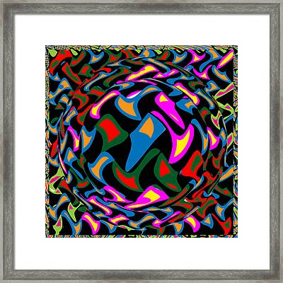 Abstract Colorful Art Exploded View Of Whirlwind At Its Builds On Dry Leaves Framed Print