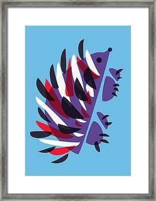 Abstract Colorful Hedgehog Framed Print by Boriana Giormova