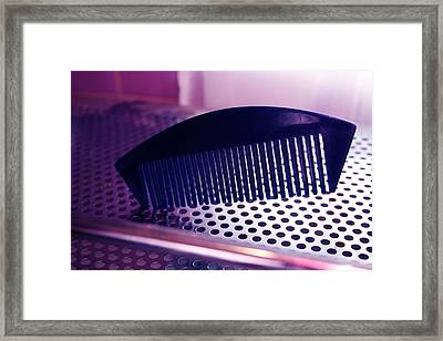 Abstract Comb Framed Print by Brenda Myers