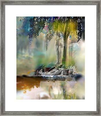 Abstract Contemporary Art Titled Humanity And Natures Gift By Todd Krasovetz  Framed Print