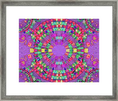 Abstract Cookie #047 Framed Print by Barbara Tristan
