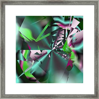 Abstract Cool 1 Framed Print by Leslie Harlow
