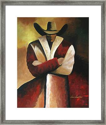 Abstract Cowboy Framed Print by Lance Headlee