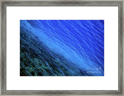 Abstract Crater Lake Blue Water Framed Print