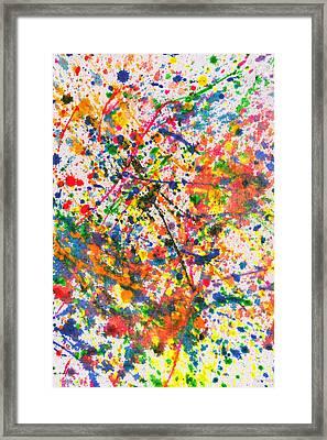 Abstract - Crayon - Mardi Gras Framed Print by Mike Savad