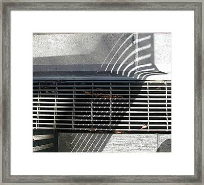 Framed Print featuring the photograph Abstract Crisscross by Jane Bucci