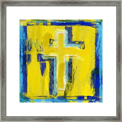 Abstract Crosses Framed Print by David G Paul