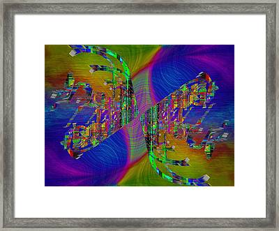 Abstract Cubed 368 Framed Print by Tim Allen