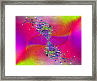 Abstract Cubed 377 Framed Print by Tim Allen
