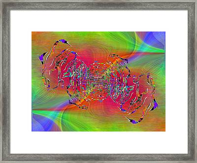 Abstract Cubed 382 Framed Print by Tim Allen