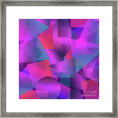Abstract Cubes Framed Print by Amir Faysal