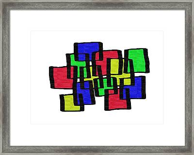 Abstract Cubicles Framed Print