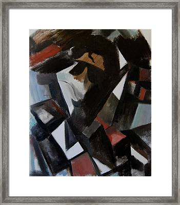 Abstract Cubism Michael Jackson Art Print Framed Print by Tommervik