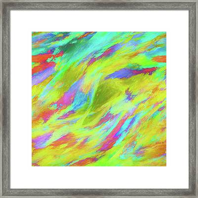 Abstract - Currents Framed Print