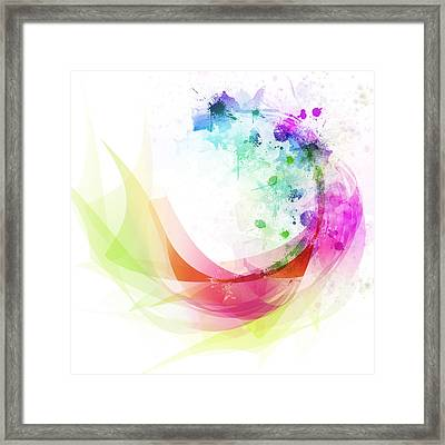 Abstract Curved Framed Print