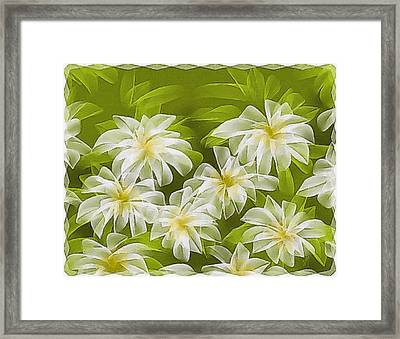 Abstract Daisies Framed Print by Veronica Minozzi