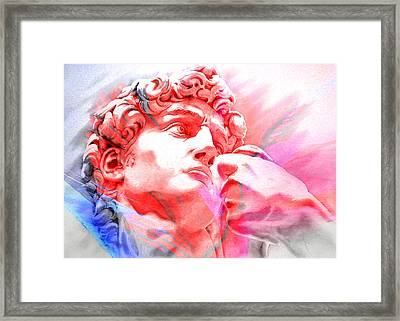 Framed Print featuring the painting Abstract David Michelangelo 1 by J- J- Espinoza