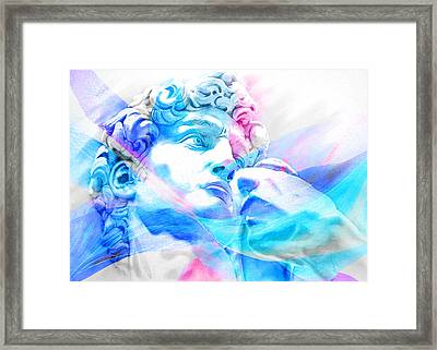 Framed Print featuring the painting Abstract David Michelangelo 3 by J- J- Espinoza