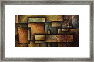 Abstract Design 9 Framed Print by Michael Lang