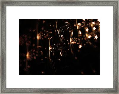 Abstract Design With Glowing Stars Framed Print
