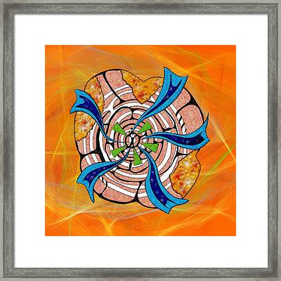 Abstract Digital Art - Ciretta V3 Framed Print by Cersatti