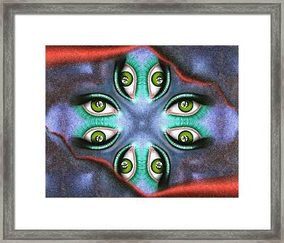 Abstract Digital Art - Guardinetto V3 Framed Print by Cersatti
