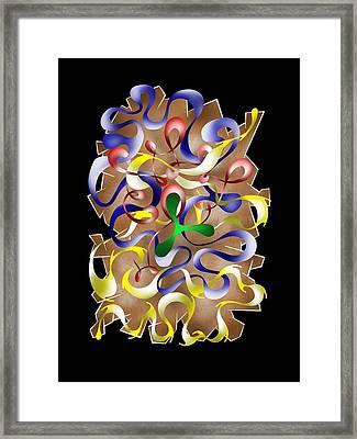 Abstract Digital Art - Jamurina V2 Framed Print by Cersatti
