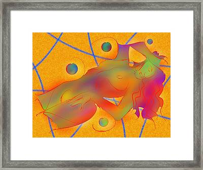 Abstract Digital Art - Limettina V1 Framed Print by Cersatti