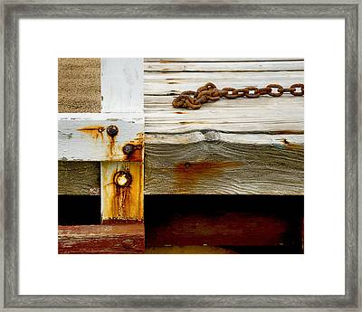 Abstract Dock Framed Print by Charles Harden
