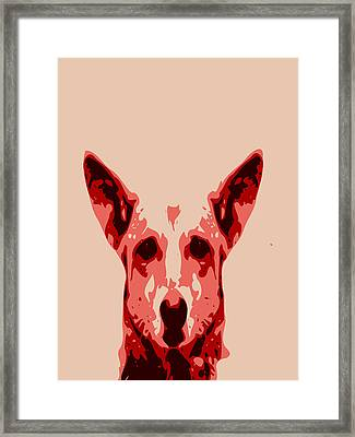 Abstract Dog Contours Framed Print