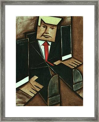 Framed Print featuring the painting Tommervik Abstract Donald Trump Art Print by Tommervik