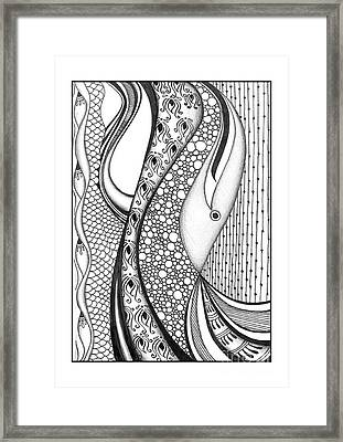 Abstract Doodle Art Framed Print