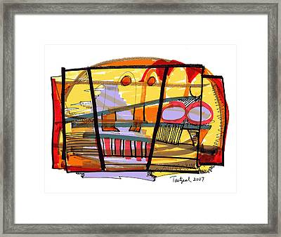 Abstract Drawing Sixty-seven Framed Print