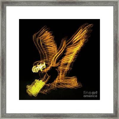 Abstract Eagle Framed Print by Skip Willits