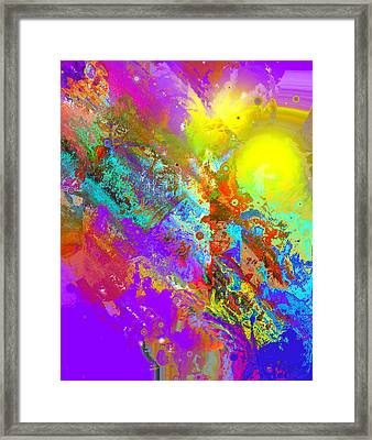 Abstract Eight-chroma Framed Print by Patricia Motley