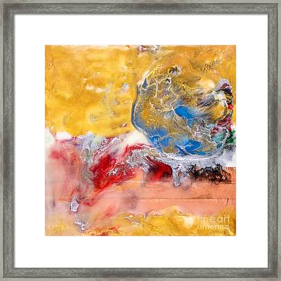 Abstract Encaustic Painting Framed Print by Edward Fielding