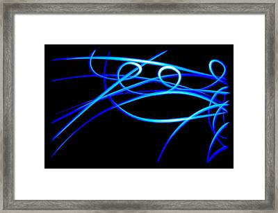 Abstract Energy Flow Framed Print by Bruce Pritchett