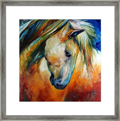 Abstract Equine Eccense Framed Print by Marcia Baldwin
