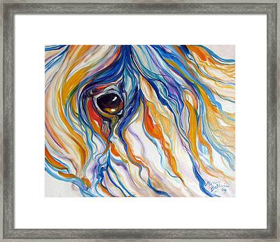 Abstract Equine Eye 1 Sold Framed Print by Marcia Baldwin